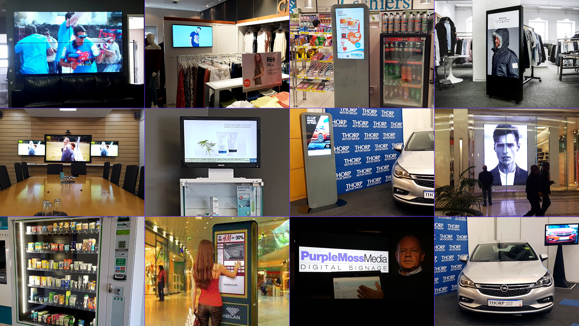 Digital content - video tv advertising displays